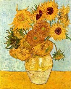Doce-Girasoles-en-un-Jarron-Van-Gogh-algomasquearte