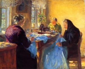 Anna-Ancher-Three-Old-Seamstresses-also-known-as-Sewing-a-Blue-Gown-for-a-Costume-Ball-