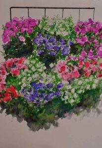 balcón flores