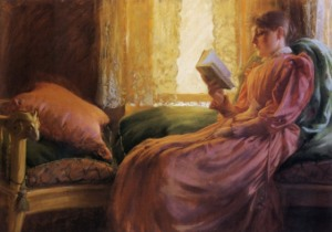 charles-courtney-curran-chica-leyendo-1892