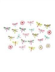 cuna flores y mariposas