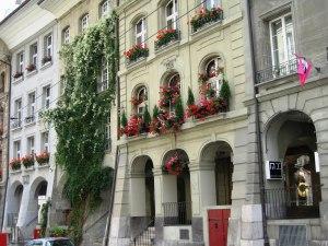 Fachadas con flores - Berna
