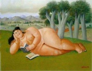 fernando-botero-mujer-leyendo
