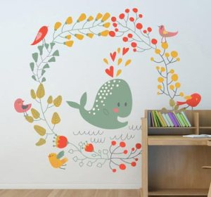 laminas flores y peces