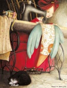 máquina de coser ilustración