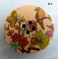 botón flores madera 2
