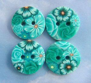 botones flores pinterest