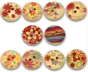 botones mader flores más