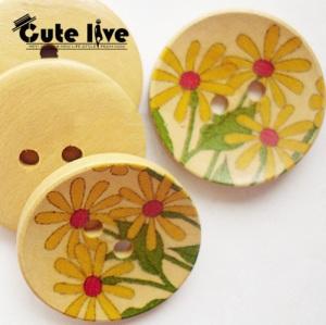 botones madera margaritas