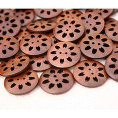 botones madera natural