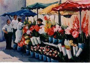 calle flores cuadro Antonio Muñoz