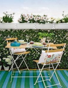 cojines y jardineras
