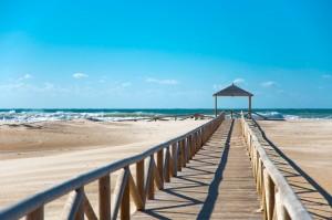 conil puente , dunas y playa