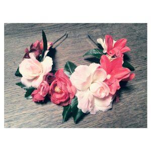 diadema rosas