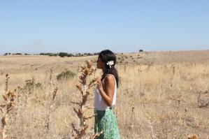 flores en el pelo Nuria