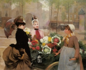 schryver_louis_marie_de_the_flower_seller_1886