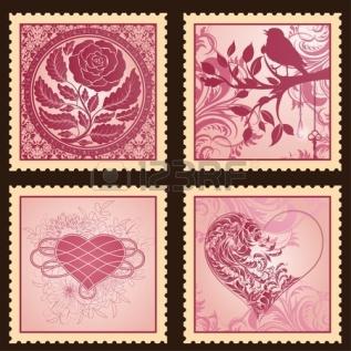 sellos flores