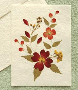 tarjeta flor seca
