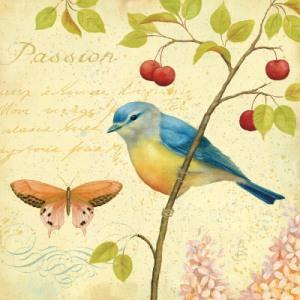 tarjeta vintage aves 2
