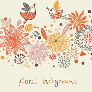 tarjeta vintage flores