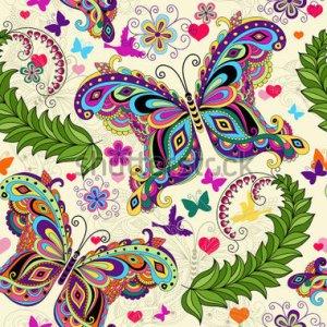 tarjeta vintage mariposas