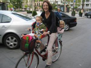 bici Merce y niños Sevilla
