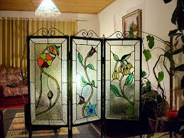 biombo flores cristal