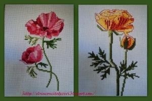 ábum flores punto cruz