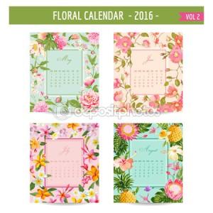 calendario flores 2016
