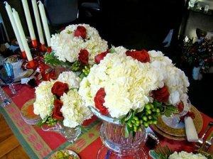 centro mesa navidad flores