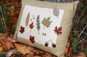 cojines hojas