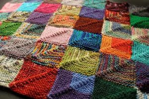 colcha lana patchwork