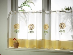 cortinas girasoles