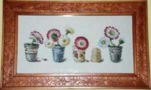 dedales punto cru y flores