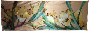 dibujo flores galdiolo amariillo