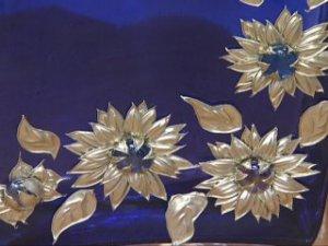 estaño flores originales