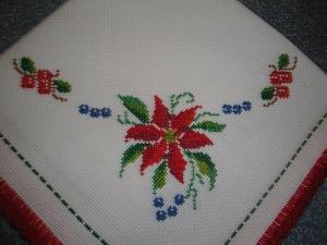 flor pascua punto cruz