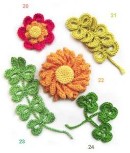 flores curiosas ganchillo