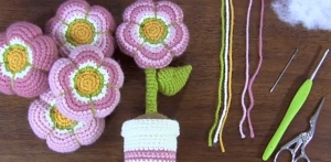 flores ganchillo amigurumi