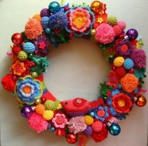 flores ganchillo corona