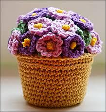 flores ganchillo maceta 2