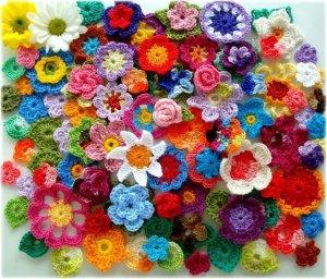 flores ganchillo surtidas poupurrí