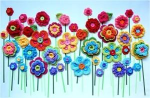 flores ganchillo surtidas