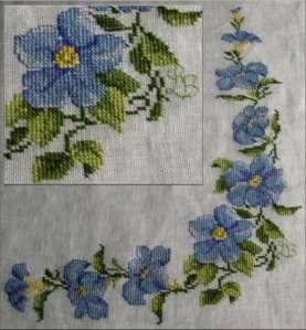 flores punto cruz 11