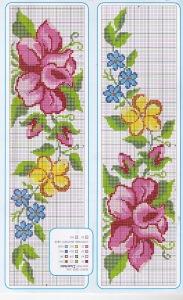 flores punto cruz 4