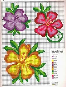 flores punto cruz 5