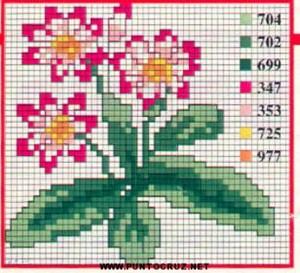 flores punto cruz 7