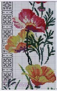 flores punto cruz 9