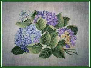flores punto cruz hortensias 2