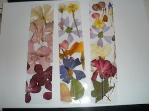 flores secas marcapáginas originales